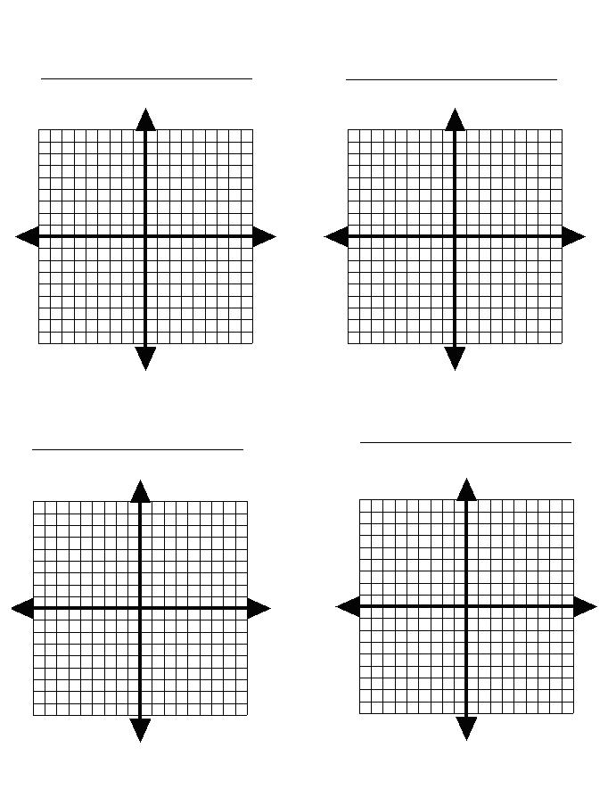 Graph Papers Four Quadrant Graph Paper One Graph Per Page Best