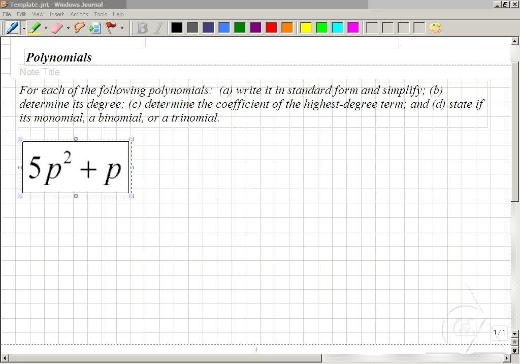 Classroom Intermediate Algebra Writing Polynomials In Standard
