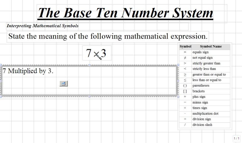 Classroom Pre Algebra Interpreting Mathematical Symbols Video