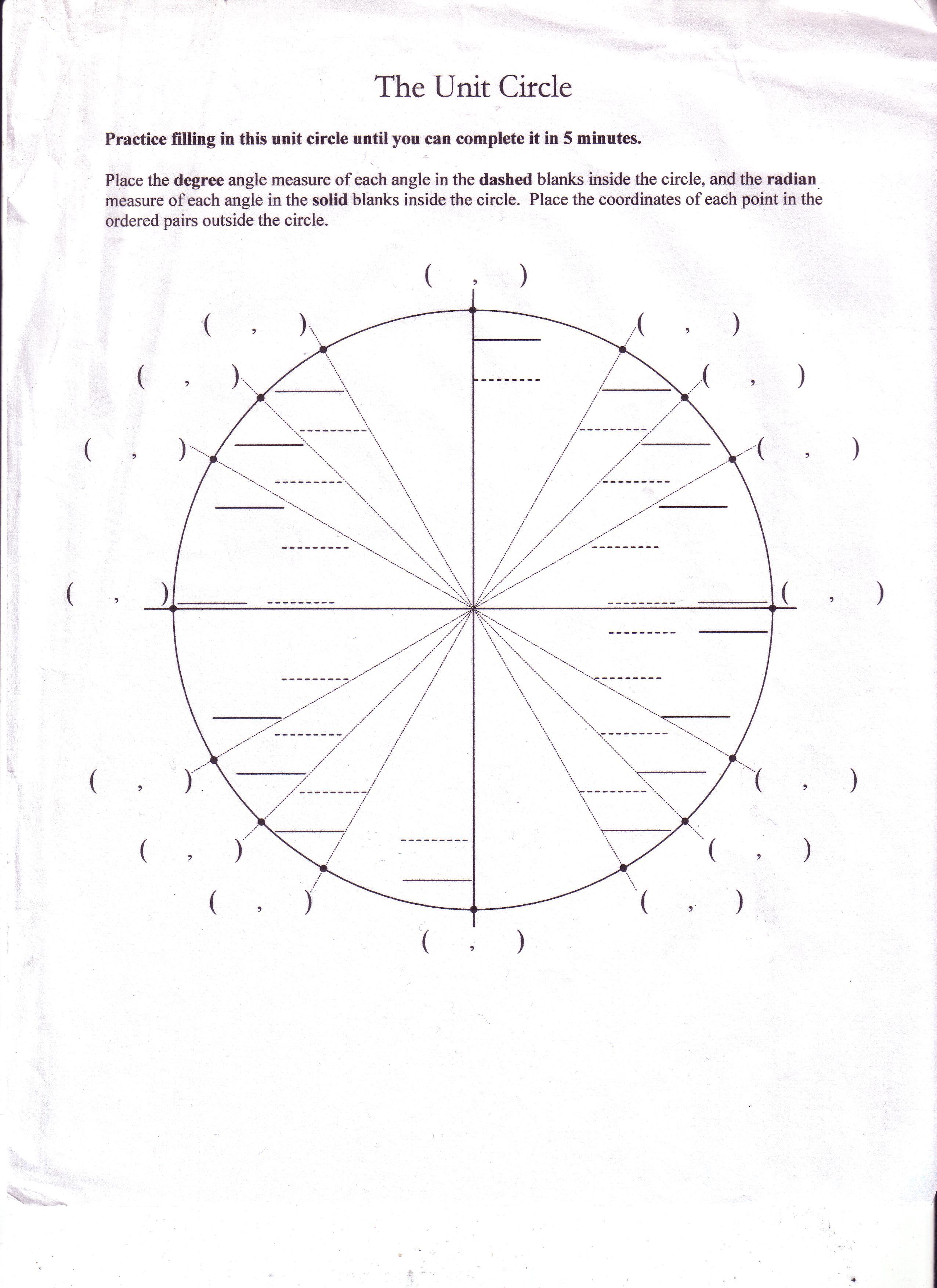 worksheet unit circle practice worksheet grass fedjp worksheet study site. Black Bedroom Furniture Sets. Home Design Ideas